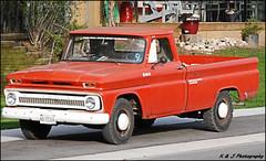 Blast from the Past (John Neziol) Tags: kjphotography nikon nikondslr nikoncamera truck chevy chevrolet orange wheels parisontario
