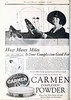Carmen Face Powder ad Photoplay (kevin63) Tags: magazine photoplay photoshop retouched restored retro motionpicture movie silentera 20s 20thcentury 1920s 1921 actress old vintage antique internetarchive carmenfacepowder womens woman liberated car driving hat face powder cosmetic product white pink flesh brunette shades