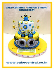 Minion Cake #firstbrthday #designercake #delhi #fondant #themed #kidscake #minion #southdelhi #onlineorder #minioncake #cakecentral (Cake Central-Design Studio) Tags: firstbrthday designercake delhi fondant themed kidscake