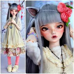 Immie new clothes. (nekomuchuu63) Tags: minifee chloe mod fairyland bjd grey wolf doll