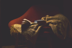 Insomnio (Ines L. Pisano) Tags: lowkey reading dark libros books blanket