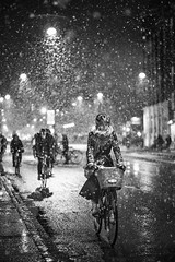 """When you come out of the storm, you won't be the same person who walked in. That's what this storm's all about."" (www.juliadavilalampe.com) Tags: copenhagen denmark danmark city urban bicycle girl woman snowstorm cph scandinavian life winter snow"