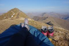 Relaxing, Ladhar Bheinn 1st May '17 (Hazel Strachan) Tags: bivvy knoydart scotland munros ladharbheinn