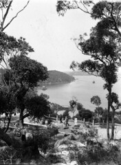 View from picnic reserve: Taronga Zoological Park (State Library of New South Wales collection) Tags: statelibraryofnewsouthwales sydney harbour views zoos taronga architecture buildings