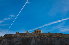 Acropolis of Athens.. (ckollias) Tags: acropolisofathens acropolisview acropolis athens architecture blue buildingexterior builtstructure contrail day greece history lowangleview nature nopeople outdoors sky vaportrail