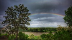 Rainbow over the Missouri (vwcampin) Tags: rights pride calmafterthestorm storm view outside outdoors iphoneology iphonology iphoneography iphoneographer iphone midwest wymanheights nebraska florence omaha riverview river missouri missouririver rainbows nature rainbow