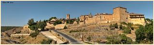 Panorámica de la villa medieval de Pedraza (Segovia)