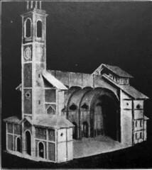 Nuova chiesa di San Cristoforo Progetto e plastico 1920-25 lato (Milàn l'era inscì) Tags: urbanfile milanl'erainscì milano milan oldpicture milanosparita vecchiefoto san cristoforo