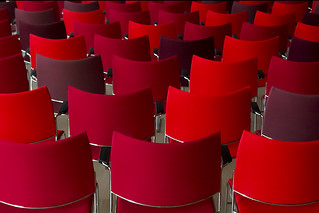Red and pink chairs