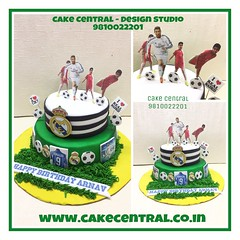 Foot ball Cake #footballclub # #designercake #delhi #fondant #themed #kidscake #football #cake (Cake Central-Design Studio) Tags: firstbrthday designercake delhi fondant themed kidscake
