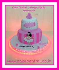 First Birthday  Cake #firstbrthday #designercake #delhi #fondant #themed #kidscake #princess #girl (Cake Central-Design Studio) Tags: firstbrthday designercake delhi fondant themed kidscake