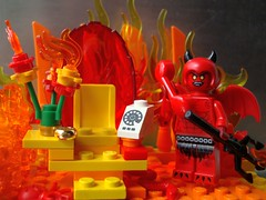 666 - The Number of the Beast (captain_joe) Tags: 666 devil teufel toy spielzeug 365toyproject lego minifigure minifig flamme flames