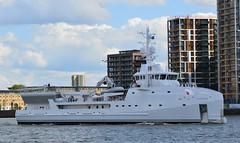 Game Changer (7) @ Gallions Reach 14-05-17 (AJBC_1) Tags: riverthames gallionsreach london ©ajc superyacht dlrblog luxuryyacht england unitedkingdom uk northwoolwich eastlondon newham londonboroughofnewham ship boat vessel motoryacht nikond3200 yachtsupportvessel ysv damen damenshipyardsgroup ys6911