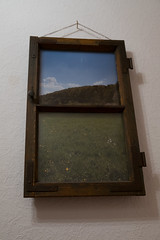 self produced frame and picture (Joachim Krawitsch) Tags: joachimkrawitsch pov frame window vintage poster picture framed view home swabian alb