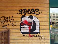 Panda Graffiti (Exile on Ontario St) Tags: panda bear graffiti montreal streetart damasu cute japanese kanji characters writing walls murs ct candt asian supermarket marché marchéct aroes smile smiling chinese supermarché épicerie grocery store groceries wall mur street art montréal cartierville pandas