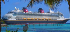 Disney Fantasy at Castaway Cay (Thanks for over 2 million views!!) Tags: chadsparkesphotography cruiseship disney disneyfantasy disneyfantasycruiseship disneycruiseline bahamas water ship canonpowershotsx160is sign castawaycay island trees