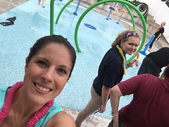 Bridget takes a selfie with the much awaited splash pad.