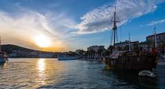 Towards the sunset (mattias811) Tags: sunset split croatia ship water blue sail beautiful dalmatia europe sailing city harbour nikon d7200 boat boats