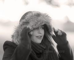 autumn (threechairs) Tags: autumn cold morning fur coat jacket pretty cute woman girl model portrait blackandwhite eoshe gloves hoodie beautiful gorgeous