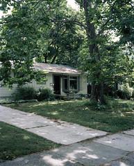Leah's House (nikolaijan) Tags: plaubelmakina 67 fuji velvia50 plaubel houseportrait 120 mediumformat michigan analogue analogtrees velvia annarbor