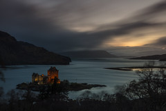 Darkness Falls (Visible Landscape) Tags: uk scotland highlands visiblelandscape sunset gloaming twilight dornie longexposure