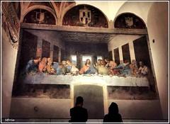 Contemplation (LaSarix) Tags: arte dipinto muro leonardo milano lombardia italia pittura cenacolo mural painting refectory convent santamariadellegrazie