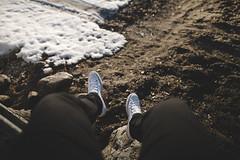 New Kicks (DrowsyPotato) Tags: converse white high tops bokeh 24mm f14 14 sharp shoes