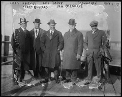 """Chas. Harvey, Les Darcy, O'Sullivan, """"Tex"""" Rickard, Tom O'Rourke (maitland.city library) Tags: maitland new south wales james leslie darcy boxing boxer library congress chas harvey osullivan tex rickard tom orourke united states america 1917"""