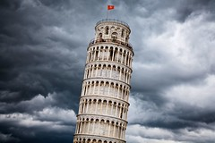 foreboding (khrawlings) Tags: rain clouds sky threatening foreboding angry tower leaning building architecture pisa tuscany italy arches campanile