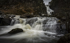 Ogwen Falls in Winter - Explore 090517 (cliveg004) Tags: ogwenfalls ogwenvalley snowdonia wales northwales waterfall cataract river water mountains rocks winter le longexposure nikon d5200 1685mm