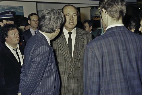 Mr JACQUES CHIRAC au SIA 1990-56-cliche Jean Weber