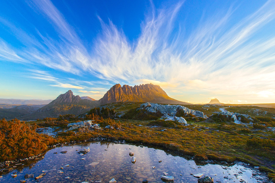 The magical Cradle Mountain is another of Tasmania's must see sights