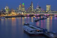 Harmony? (City of London, London, United Kingdom) (AndreaPucci) Tags: cityoflondon london uk thames night stpaulscathedral blackfriars bridge andreapucci canoneos60