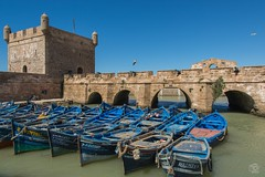 Porte de la Marine Essaouira (jennifer.stahn) Tags: travel travelphotography maroc marocco marokko essaouira hafen port porte marina marine boot boat nikon jennifer stahn afrika africa nordafrika mauer niceview bluesky