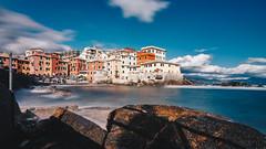 Boccadasse (FButzi) Tags: genova genoa liguria italia italy boccadasse long exposure sky seascape rocks clouds sea village
