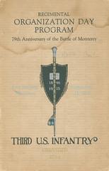 1925-09-21-Organization Day program-01 (Old Guard History) Tags: 1925 3dusinfantryregimenttheoldguard fortsnelling minnesota organizationday