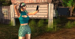 Blast from the Past (pulpfictionstudio) Tags: secondlife movies retro moz drivein