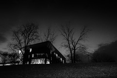 House on the hill (ronperry811) Tags: bw blackwhite silverefex umass boston