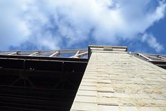 Looking Up The Queensboro Bridge (ezguy1) Tags: nyc bridge city rooseveltisland nikkor d3200 nikon clouds architecture