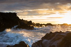 Kohala Coast, Big Island (gregreher) Tags: waves lava sunset ocean surf bigisland hawaii