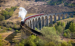 The Jacobite at Glenfinnan (Mister Oy ***WOW! 5 Million Views!***) Tags: davegreen oyphotos ©oyphotos jacobite glenfinnan black5 viaduct train steam railway bridge shadow curve scotland visitscotland harrypotter fujixpro2 35mm fujinon35mmf14
