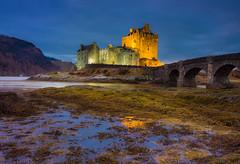 Eilean Donan twilight (snowyturner) Tags: castle scotland highlands illuminated floodlit eileandonan macroalgae bridge dornie lochduich lochalsh