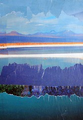 Blue Landscape (Megan Coyle) Tags: landscape landscapecollage art collage magazinecollage collageart paperart papercollage illustration mountains blue nature fields cutandpaste paintingwithpaper megancoyle