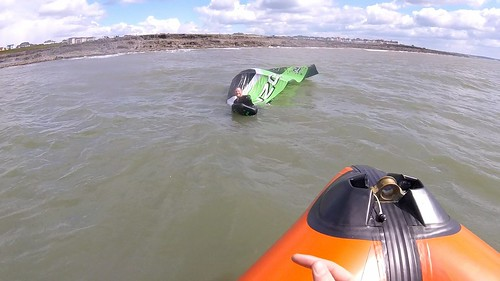 Kite surfer rescue Rest Bay