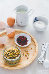 Chamomile Saffron Cream Caramel-by Meeta K. Wolf-4 (Meeta Wolff @ What's For Lunch, Honey?) Tags: meetakwolff meetak dessert food foodphotography photography presentation saffron styling