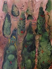 L'ALLÉE DES GRANDS CÈDRES (Claude Bolduc) Tags: artsingulier outsiderart artbrut intuitiveart visionaryart lowbrow