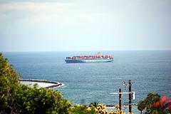 DSC_1381-61 (jjldickinson) Tags: nikond3300 106d3300 sanpedro losangeles sky cloud lookoutpointpark ocean water shippingcontainer container ship containership portoflosangeles harbor nikon55200mmf456gedifafsdxvrnikkor promaster52mmdigitalhdprotectionfilter