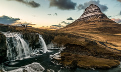 Kirkjufell at Sunset (Foreign17) Tags: iceland kirkjufell sunset mountain waterfall shadows clouds river foss grass snow ice nikon green d7100 7100 wideangle wide 16mm 1685mm nikkor tripod manfrotto stable lightroom lightroomcc nik color efex colour photoshop photoshopcc holiday vacation europe spring winter april outdoor adventure hike nationalgeographic national geographic geology land formations tourism sandisk landscape nature natural