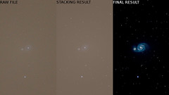 Stacking process (Club Astro PSA) Tags: m51 messier deep sky galaxy galaxie ciel profond objet object night star étoile nuit astro astronomy astrophoto astronomie ngc5198 ngc 5198 stacking dss