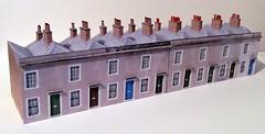 Small terraced houses (kingsway john) Tags: kingsway models 176 scale card kit house terraced london georgian small cardkt oo gauge terg terrace